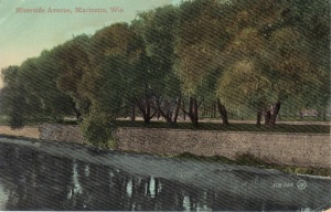 Riverside from train bridge 1909