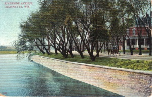 Riverside postcard at Carney Sr